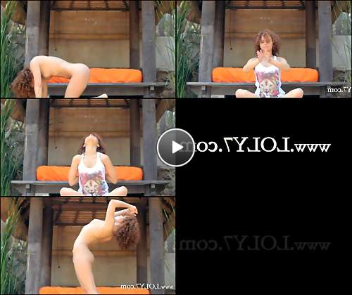 hot chick doing yoga video